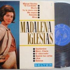 Disques de vinyle: MADALENA IGLESIAS (LP BELTER 1966) VINILO EN MUY BUEN ESTADO. Lote 271983808