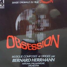 Disques de vinyle: BANDA SONORA DE LA PELÍCULA OBSESIÓN EDITADO EN FRANCIA POR EL SELLO DECCA MÚSICA BERNARD HERRMANN... Lote 272042213