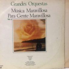Discos de vinilo: DISCO 33 GRANDES ORQUESTAS MÚSICA MARAVILLOSA. Lote 272075638