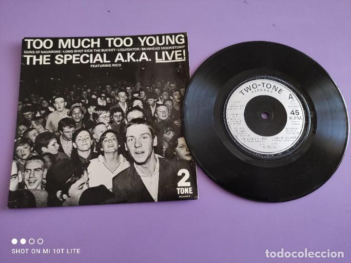 JOYA EP SKA. THE SPECIAL AKA-LIVE. TOO MUCH TOO YOUNG+4. AÑO 1980. UK. 2 ZONE CHS TT7.THE SPECIALS. (Música - Discos de Vinilo - EPs - Reggae - Ska)