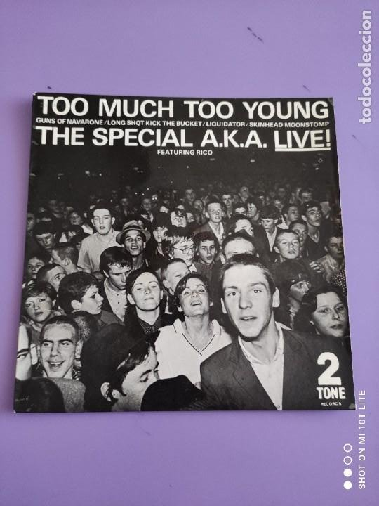 Discos de vinilo: JOYA EP SKA. THE SPECIAL AKA-LIVE. TOO MUCH TOO YOUNG+4. AÑO 1980. UK. 2 ZONE CHS TT7.THE SPECIALS. - Foto 2 - 272079773