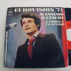 Discos de vinilo: MASSIMO RANIERI-SINGLE EUROVISION 71. Lote 272093628