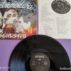 Disques de vinyle: LP ORIGINAL EXTREMODURO.ROCK TRANSGRESIVO.TU EN TU CASA NOSOTROS EN LA HOGUERA.AVISPA ALP006+ENCARTE. Lote 272132348