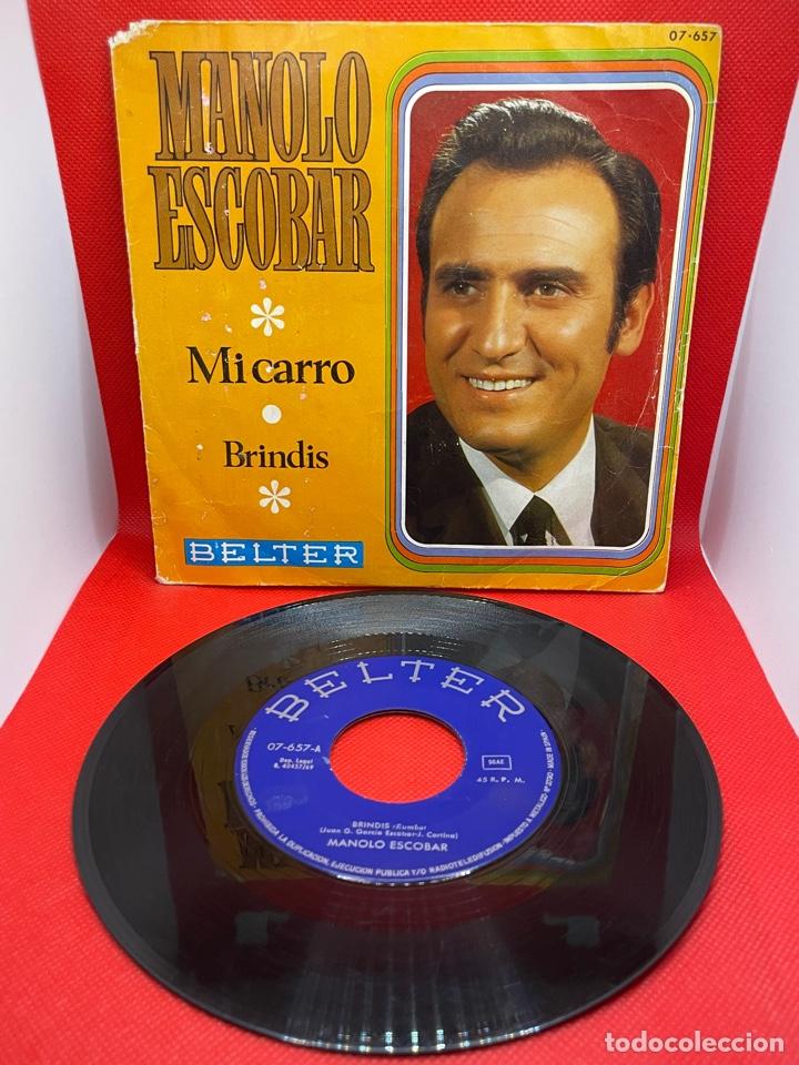 SINGLE MANOLO ESCOBAR, IMPECABLE ESTADO, MI CARRO / BRINDIS 1969 (Música - Discos - Singles Vinilo - Flamenco, Canción española y Cuplé)