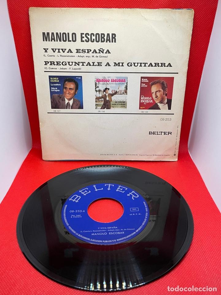 Discos de vinilo: SINGLE - MANOLO ESCOBAR - Y VIVA ESPAÑA - PREGÚNTALE A MI GUITARRA - BELTER - AÑO 1973 - Foto 2 - 272151838