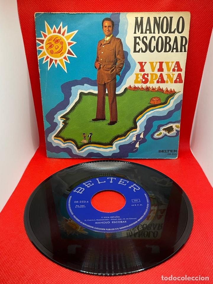 SINGLE - MANOLO ESCOBAR - Y VIVA ESPAÑA - PREGÚNTALE A MI GUITARRA - BELTER - AÑO 1973 (Música - Discos - Singles Vinilo - Flamenco, Canción española y Cuplé)