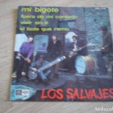 Discos de vinil: SINGLE. LOS SALVAJES. MI BIGOTE + 3.. ORIGINAL DE 1967. BUENA CONSERVACION. Lote 272201038