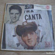 Discos de vinilo: SINGLE. ELVIS PRESLEY. CUANDO MI LUNA SE CONVIERTE EN ORO + 3. ORIGINAL 1959. Lote 272202063