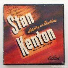 Discos de vinilo: STAN KENTON AND HIS ORCHESTRA – ARTISTRY IN RHYTHM BOX 4 SINGLES USA,1949 CAPITOL. Lote 272215808