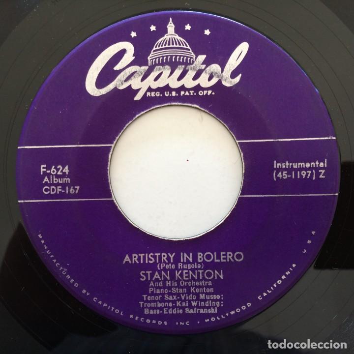 Discos de vinilo: Stan Kenton And His Orchestra – Artistry In Rhythm Box 4 Singles USA,1949 Capitol - Foto 7 - 272215808