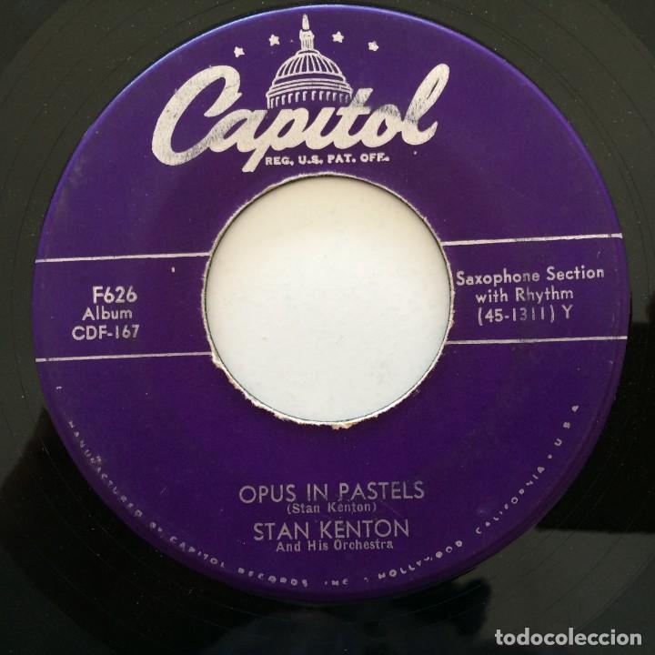 Discos de vinilo: Stan Kenton And His Orchestra – Artistry In Rhythm Box 4 Singles USA,1949 Capitol - Foto 11 - 272215808