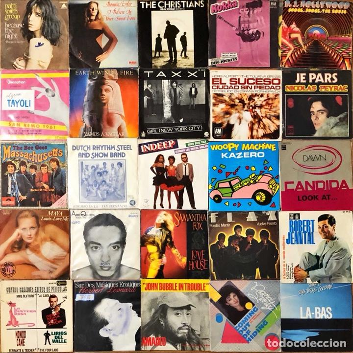 LOTE 50 SINGLES INTERNACIONAL VARIADO (Música - Discos - Singles Vinilo - Pop - Rock - Internacional de los 70)