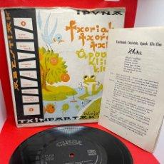 Discos de vinilo: GRUPO TXINPARTAK - JOTAS VASCAS -ABESTIAK 1961 EP 33RPM. Lote 272255883