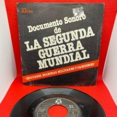 Discos de vinilo: DOCUMENTO SONORO DE LA SEGUNDA GUERRA MUNDIAL - 1979 EP 33RPM. Lote 272260313
