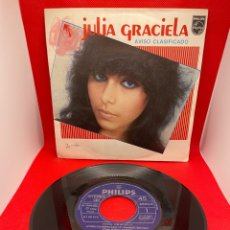 Discos de vinilo: JULIA GRACIELA - AVISO CLASIFICADO - SINGLE 1981. Lote 272270853