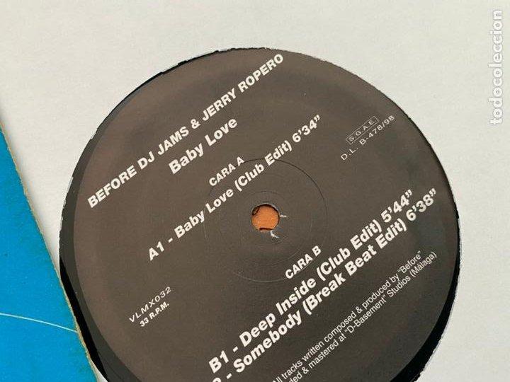 Discos de vinilo: BEFORE DJ JAMES & JERRY ROPERO (BABY LOVE) MAXI 1996 ESPAÑA (B-31) - Foto 2 - 272397083