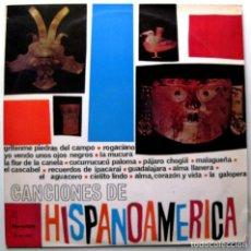 Discos de vinilo: VARIOS (MARIA DOLORES PRADERA/LOS LLANEROS...) - CANCIONES DE HISPANO-AMERICA - LP IBEROFON 1963 BPY. Lote 272457823