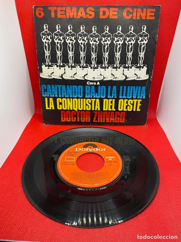 6 TEMAS DE CINE - CANTANDO BAJO LA LLUVIA / LA CONQUISTA DEL OESTE / DR. ZHIVAGO - POLYDOR - 1980 (Música - Discos de Vinilo - EPs - Bandas Sonoras y Actores)