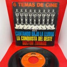 Discos de vinilo: 6 TEMAS DE CINE - CANTANDO BAJO LA LLUVIA / LA CONQUISTA DEL OESTE / DR. ZHIVAGO - POLYDOR - 1980. Lote 272472823