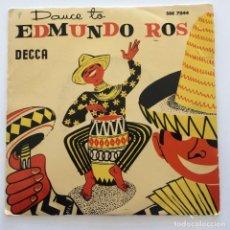 Discos de vinilo: EDMUNDO ROS & HIS ORCHESTRA – DANCE TO EDMUNDO ROS SWEDEN,1957 DECCA. Lote 272501413