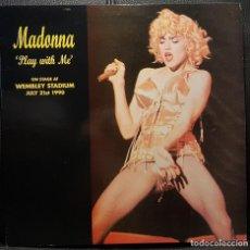 Disques de vinyle: MADONNA - PLAY WITH ME - LP - LIVE WEMBLEY STADIUM - 1990 - EXCELENTE - RARO - NO USO CORREOS. Lote 272652168