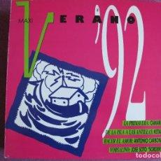 Discos de vinilo: MAXI - VERANO 92 - CAMARON, KETAMA, ANTONIO CARBONELL, SORDERITA (PROMO ESPAÑOL, PHILIPS 1992). Lote 272744318
