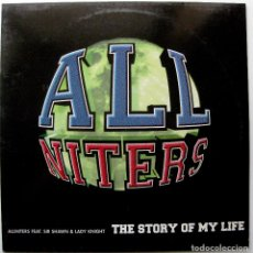 Discos de vinilo: ALLNITERS - THE STORY OF MY LIFE - MAXI BLANCO Y NEGRO 1998 BPY. Lote 272753663