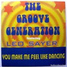 Discos de vinilo: THE GROOVE GENERATION WITH LEO SAYER - YOU MAKE ME FEEL LIKE DANCING - MAXI BLANCO Y NEGRO 1998 BPY. Lote 272757158