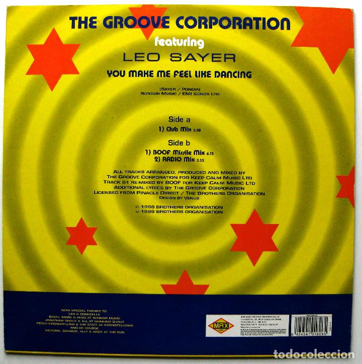 Discos de vinilo: The Groove Generation with Leo Sayer - You Make Me Feel Like Dancing - Maxi Max Music 1998 BPY - Foto 2 - 272757988
