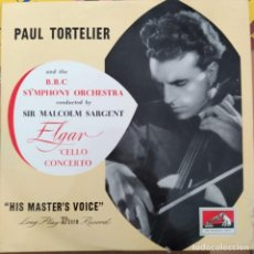 "Discos de vinilo: ELGAR, PAUL TORTELIER, SIR MALCOLM SARGENT, BBC SYMPHONY ORCHESTRA - CELLO CONCERTO (10"") UK. Lote 272735953"