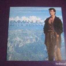 Discos de vinil: EMMANUEL –BELLA SEÑORA - SG EPIC 1990 PROMO - LATIN POP 90'S - LUCIO DALLA - SIN USO. Lote 272763923