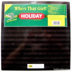 Discos de vinilo: WHO'S THAT GIRL! - HOLIDAY - MAXI MAX MUSIC 1998 (MADONNA) BPY. Lote 272879498