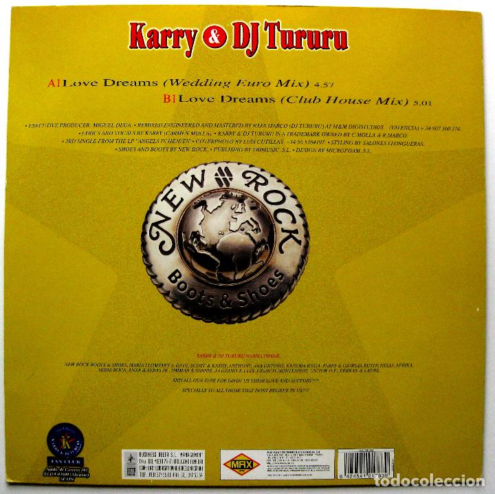 Discos de vinilo: Karry & DJ Tururu - Love Dreams - Maxi Max Music 1998 BPY - Foto 2 - 272881548