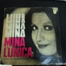 Discos de vinilo: MINA: EDICION ARGENTINA-- ITALY MUSIC: VINTAGE PIECE FOR COLLECTORS- ITALIAN FEMALE SINGER. Lote 272883778