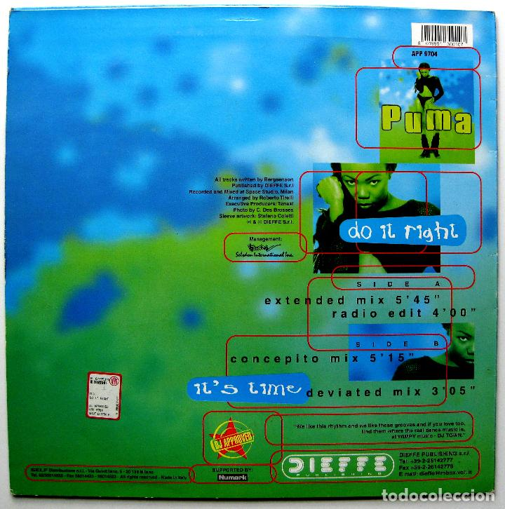 Discos de vinilo: Puma - Do It Right - Maxi DJ Approved 1997 Italia BPY - Foto 2 - 272899203