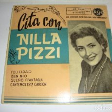 Discos de vinilo: DISCO DE VINILO. SINGLE. NILLA PIZZI (FELICIDAD/ BIEN MIO/ SUEÑO Y FANTASÍA / CANTEMOS ESTA CANCIÓN). Lote 272900973