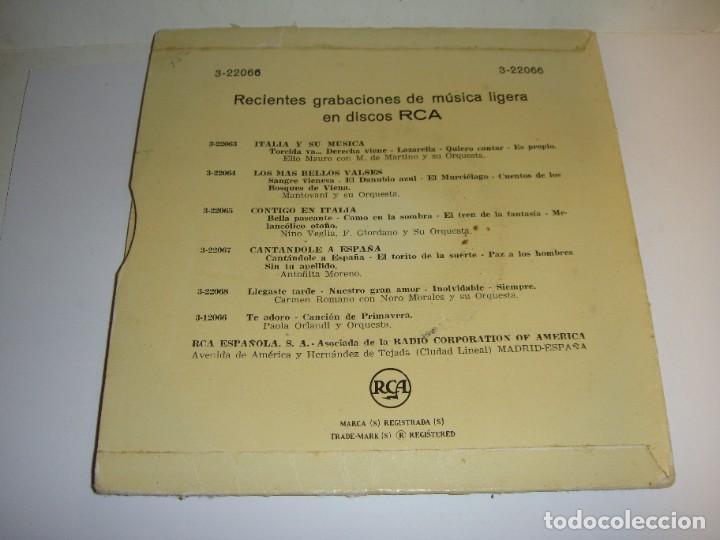 Discos de vinilo: Disco de vinilo. Single. NILLA PIZZI (Felicidad/ Bien Mio/ Sueño y Fantasía / Cantemos esta canción) - Foto 2 - 272900973