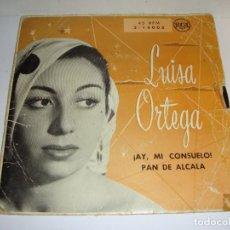 Discos de vinilo: DISCO DE VINILO. SINGLE. LUISA ORTEGA (AY, MI CONSUELO / PAN DE ALCALÁ). Lote 272907968