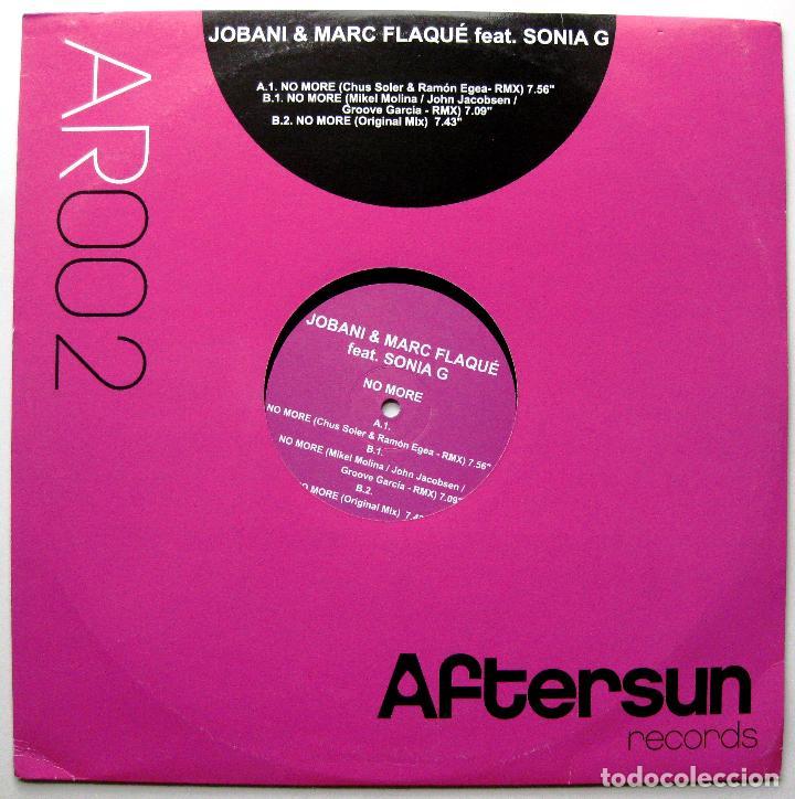 JOBANI & MARC FLAQUÉ FEAT. SONIA G - NO MORE - MAXI AFTERSUN RECORDS 2007 BPY (Música - Discos de Vinilo - Maxi Singles - Techno, Trance y House)