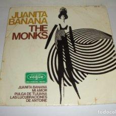 Discos de vinilo: DISCO DE VINILO. SINGLE. THE MONKS (JUANITA BANANA/MI AMOR/PULGA DE TIJUANA...). Lote 272912408