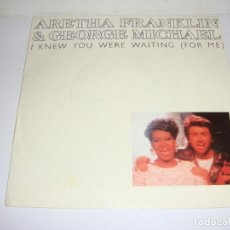 Discos de vinilo: DISCO DE VINILO. SINGLE. ARETHA FRANKLIN & GEORGE MICHAEL (I KNEW YOU WERE WAITING). Lote 272915038
