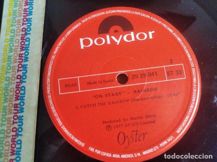 Discos de vinilo: Rainbow – On Stage ** RARO LP DOBLE ESPAÑOL 1977 BUEN ESTADO - Foto 2 - 271623858