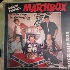 Disques de vinyle: GRAHAM FENTONS' MATCHBOX. ROCK THE BOX. ROCKABILLY. HAND-SIGNED.. Lote 273122453
