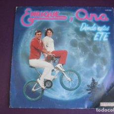 Disques de vinyle: ENRIQUE Y ANA – DONDE ESTAS ETE - SG HISPAVOX 1983 - MUSICA INFANTIL 70'S 80'S - TVE. Lote 273161463