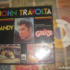 Dischi in vinile: JOHN TRAVOLTA SANDY RAINBOWS SAVOY (MIDSONG -1978) LIMITED TRASPARENTE OG HOLANDA RARE. Lote 273188358