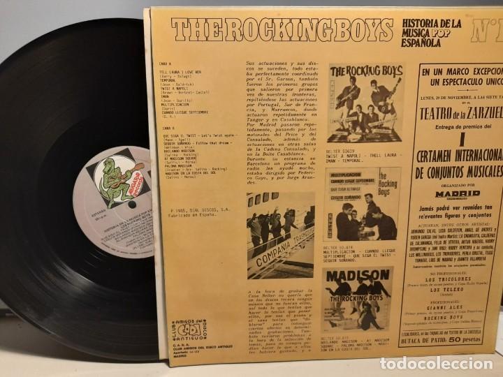 Discos de vinilo: LP THE ROCKING BOYS : HISTORIA DE LA MUSICA POP ESPAÑOLA, NUM. 17 - Foto 2 - 273209358