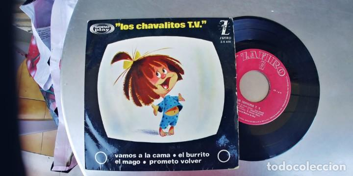 LOS CHAVALITOS T.V-EP VAMOS A LA CAMA +3 (Música - Discos de Vinilo - EPs - Música Infantil)