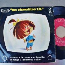 Discos de vinilo: LOS CHAVALITOS T.V-EP VAMOS A LA CAMA +3. Lote 273270538