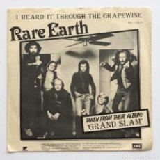 Discos de vinilo: RARE EARTH – I HEARD IT THROUGH THE GRAPEWINE / STOP HER ON SIGHT (S.O.S.) SWEDEN,1978. Lote 273296168