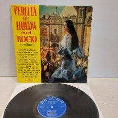 Discos de vinilo: PERLITA DE HUELVA EN EL ROCÍO / SEVILLANAS / LP - BELTER-1970 / MBC. ***/***. Lote 273344238